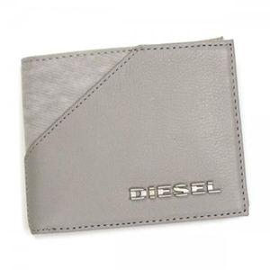 DIESEL(ディーゼル) 二つ折り財布(小銭入れ付) BEAT THE TIME 00XS40 T8084 グレー