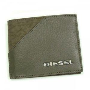 DIESEL(ディーゼル) 二つ折り財布(小銭入れ付) BEAT THE TIME 00XS40 T7434 カーキー
