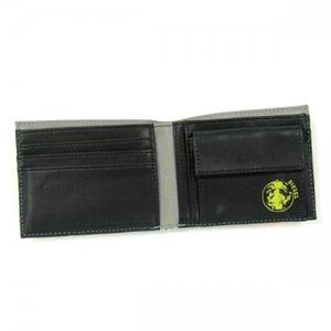 DIESEL(ディーゼル) 二つ折り財布(小銭入れ付) MONEY-MONEY X00456 H3378 ブルー