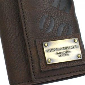 DOLCE&GABBANA(ドルチェアンドガッバーナ) キーケース A4030キャンバス+レザー BP0874 80048 ダークブラウン