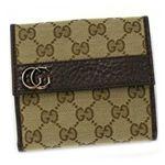 Gucci(グッチ) Wホック財布 GG RUNNING 245760 9643 ベージュ/ダークブラウン