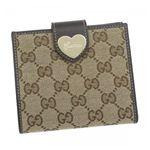 Gucci(グッチ) Wホック財布 HEART 203549 9643 ベージュ/ダークブラウン