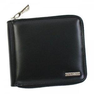 DOLCE&GABBANA(ドルチェアンドガッバーナ) 二つ折り財布(小銭入れ付) BP1365 80999 ブラック