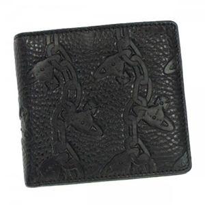 Vivienne Westwood(ヴィヴィアンウエストウッド) 二つ折り財布(小銭入れ付) CHAIN ORB 730V ブラック