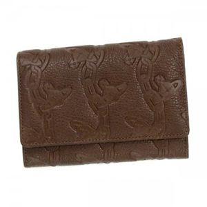 Vivienne Westwood(ヴィヴィアンウエストウッド) 二つ折り財布(小銭入れ付) CHAIN ORB 746V ダークブラウン