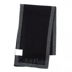 Calvin Klein(カルバンクライン) マフラー 77083 BLK BLACK/CHARCOAL