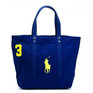 RalphLauren(ラルフローレン) トートバッグ 4051582 2513D RUGBY ROYAL W/ YELLOW PP