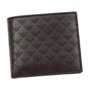 EMPORIO ARMANI(エンポリオアルマーニ) 二つ折り財布(小銭入れ付) YEM122 80006 MARRONE