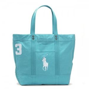 RalphLauren(ラルフローレン) トートバッグ 4051582 25PF5 FRENCH TURQUOISE W/WHITE PP
