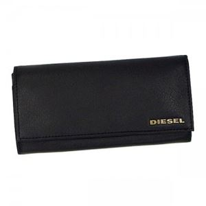 DIESEL(ディーゼル) 長財布 X02244 H4486 BLACK/ANTIQUE BRASS