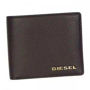 DIESEL(ディーゼル) 二つ折り財布(小銭入れ付) X01966 H5115 COFFEE BEAN/ANTIC BRASS