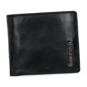 DIESEL(ディーゼル) 二つ折り財布(小銭入れ付) X02471 H1532 BLACK/WHITE