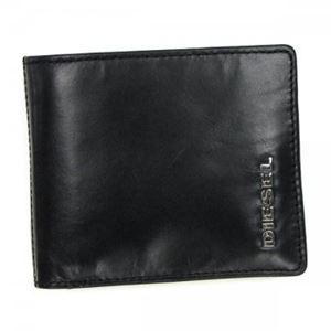 DIESEL(ディーゼル) 二つ折り財布(小銭入れ付) X02471 H5293 BLACK/ACID GREEN