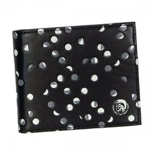 DIESEL(ディーゼル) 二つ折り財布(小銭入れ付) X02481 H2192 BLACK/VAPOROUS GRAY