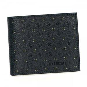DIESEL(ディーゼル) 二つ折り財布(小銭入れ付) X02481 H5216 BLUE NIGHTS/YELLOW FLUO