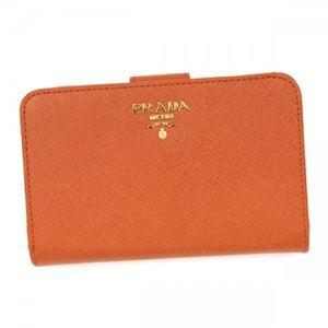 Prada(プラダ) 二つ折り財布(小銭入れ付) 1M1225 F0S73 PAPAYA