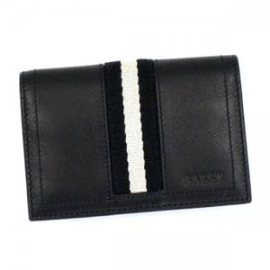 Bally(バリー) カードケース TOBEL 290 BLACK BLACK/WHITE