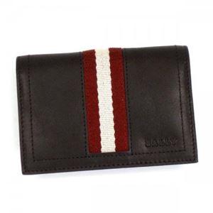 Bally(バリー) カードケース TOBEL 271 CHOCOLATE RED/WHITE
