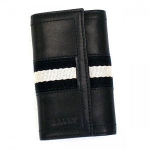 Bally(バリー) キーケース TUTO 290 BLACK BLACK/WHITE