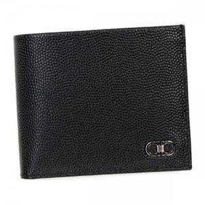 Ferragamo(フェラガモ) 二つ折り財布(小銭入れ付) 669790 588862 NERO