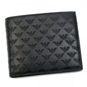 EMPORIO ARMANI(エンポリオアルマーニ) 二つ折り財布(小銭入れ付) YEM122 80001 NERO