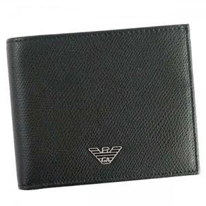 EMPORIO ARMANI(エンポリオアルマーニ) 二つ折り財布(小銭入れ付) YEM122 81072 BLACK
