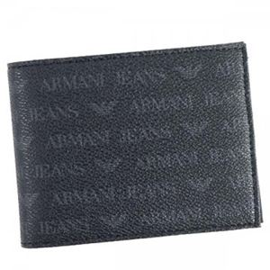 ARMANI JEANS(アルマーニジーンズ) 二つ折り財布(小銭入れ付)  938538 20 NERO