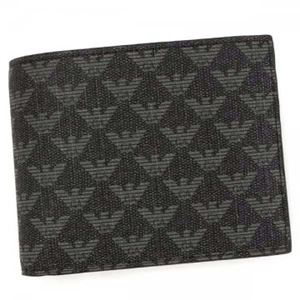 EMPORIO ARMANI(エンポリオアルマーニ) 二つ折り財布(小銭入れ付) Y4R065 86526 LAVAGNA/NERO