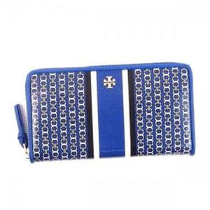 TORY BURCH(トリーバーチ) 長財布 34401 455 JEWEL BLUE GEMINI LINK STRIPE - SLG
