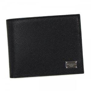 DOLCE&GABBANA(ドルチェアンドガッバーナ) 二つ折り財布(小銭入れ付) BP0457 80999 BLACK