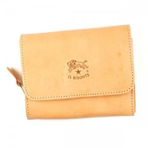 IL BISONTE(イル ビゾンテ) 二つ折り財布(小銭入れ付)  C0883 120 NATURAL