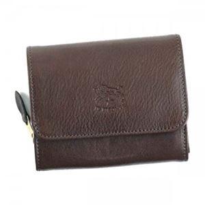 IL BISONTE(イル ビゾンテ) 二つ折り財布(小銭入れ付)  C0883 455 DARK BROWN