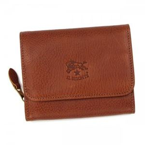 IL BISONTE(イル ビゾンテ) 二つ折り財布(小銭入れ付)  C0883 214 COGNAC