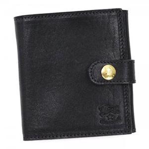 IL BISONTE(イル ビゾンテ) 二つ折り財布(小銭入れ付)  C0955 153 NERO