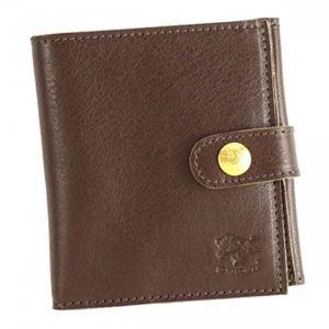 IL BISONTE(イル ビゾンテ) 二つ折り財布(小銭入れ付)  C0955 455 DARK BROWN
