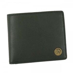 DIESEL(ディーゼル) 二つ折り財布(小銭入れ付)  X04373 T8013 BLACK