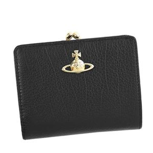 Vivienne Westwood(ヴィヴィアンウエストウッド) 2つ折小銭付き財布 51010020 N401 BLACK