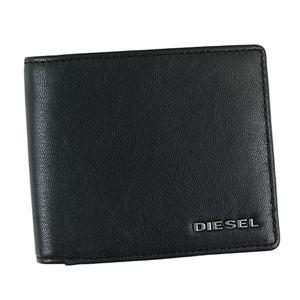 DIESEL(ディーゼル) 二つ折り財布(小銭入れ付) X04459 H6251 BLACK/TURKISH SEA/WHITE