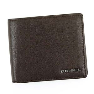 DIESEL(ディーゼル) 二つ折り財布(小銭入れ付) X04459 H6252 BROWN/ACID GREEN/WHITE