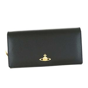 Vivienne Westwood(ヴィヴィアンウエストウッド) フラップ長財布 1032 BLACK