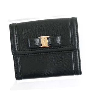 Ferragamo(フェラガモ) 二つ折り財布(小銭入れ付) 22C911 673755 NERO