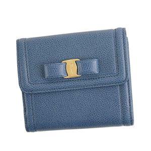 Ferragamo(フェラガモ) 二つ折り財布(小銭入れ付) 22C911 673757 BLU STONE