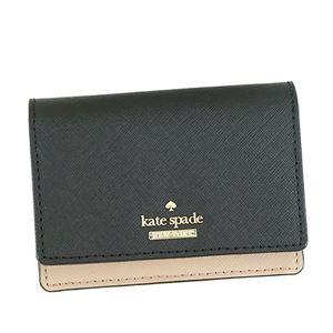 KATE SPADE(ケイトスペード) 二つ折り財布(小銭入れ付) PWRU5096B 234 BLACK/TOASTED WHEAT