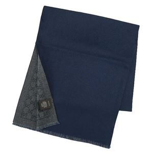 Gucci(グッチ) マフラー 402093 1168 ANTHRACITE/BLUE