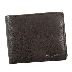 DIESEL(ディーゼル) 二つ折り財布(小銭入れ付)  X03925 T2189 SEAL BROWM