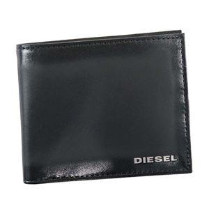 DIESEL(ディーゼル) 二つ折り財布(小銭入れ付)  X04750 T8013 BLACK