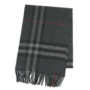 Burberry(バーバリー) マフラー  GIANT ICON 168 CORE CASHMERE  CHARCOAL CHECK