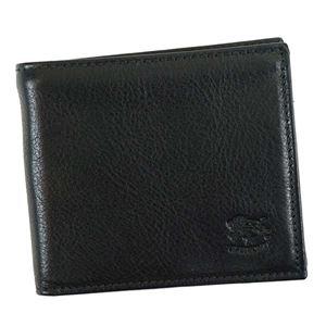 IL BISONTE(イルビゾンテ) 二つ折り財布(小銭入れ付)  C0817 153 BLACK