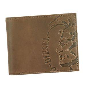 DIESEL(ディーゼル) 二つ折り財布(小銭入れ付)  X04763 T8014 ANTHRACITE