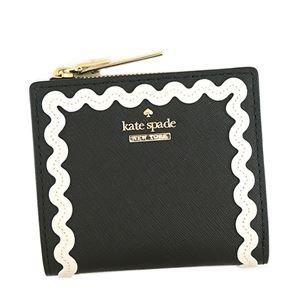 KATE SPADE(ケイトスペード) 二つ折り財布(小銭入れ付) PWRU5715 67 BLACK/CEMENT